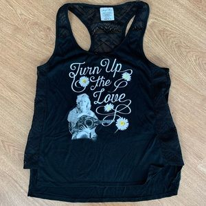 "Marilyn Monroe ""Turn up the Love"" Black Tank"